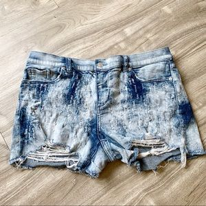 New York & Company Distressed Acid Wash Shorts